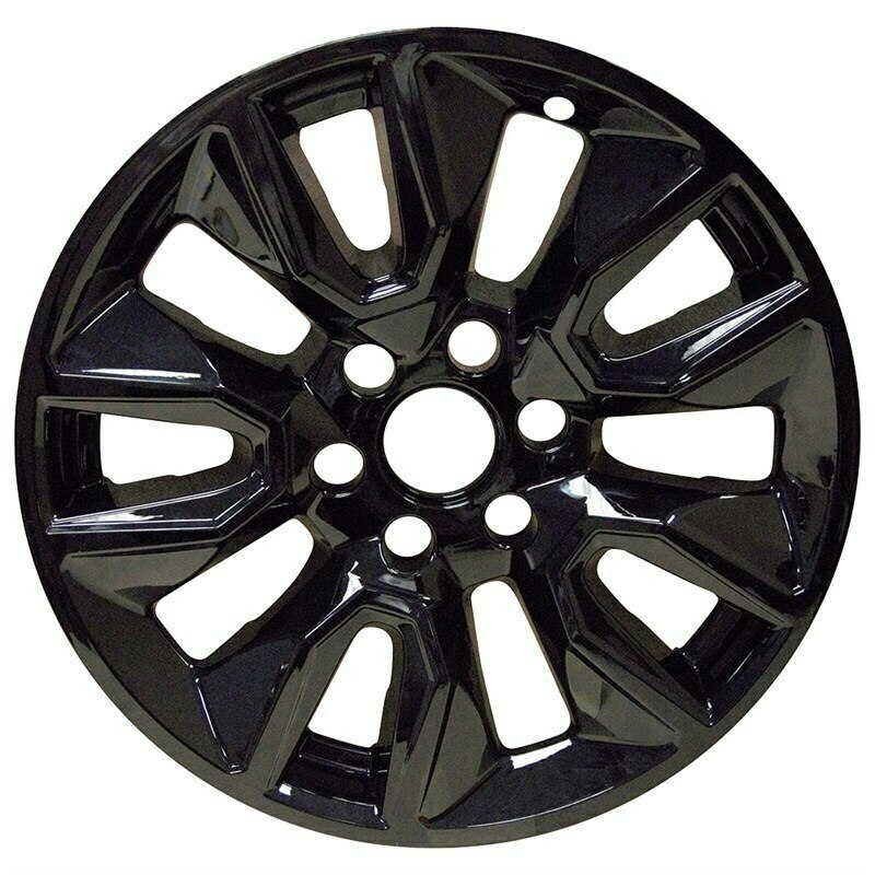 WheelCoversCom Chevrolet Suburban Tahoe Silverado 1500 Black Wheel Skins Hubcaps Wheel Covers 20 5915 5916 2019 2020 2021 SET OF 4